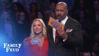 ANOTHER $20,000 for the Loes? | Family Feud