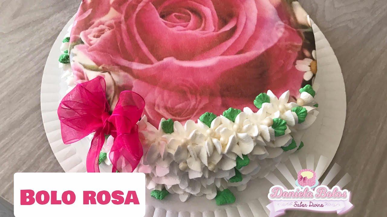 Bolo Rosa C Papel Arroz Especial