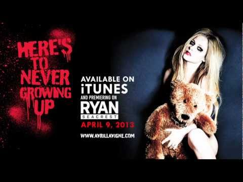 "Avril Lavigne ""Here's To Never Growing Up"" Lyric Video Sneak Peek (Single on iTunes April 9, 2013)"