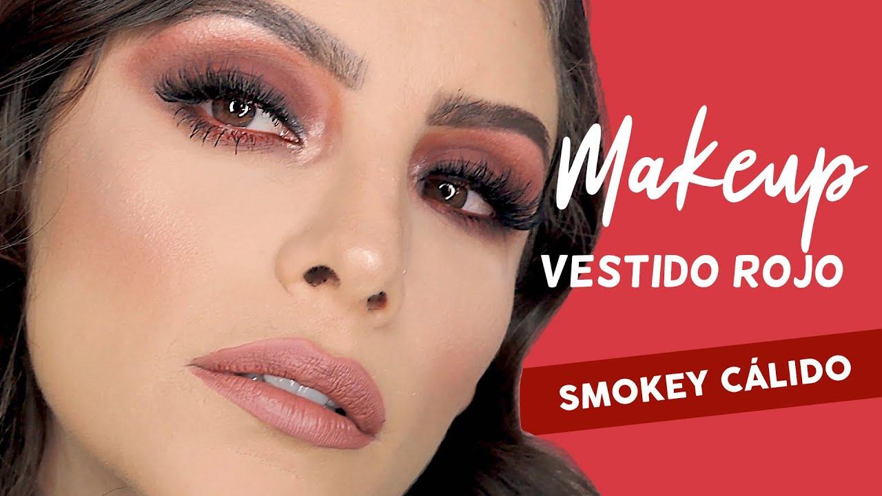 Maquillaje De Noche Con Vestido Rojo Smokey Cálido Muakkcom