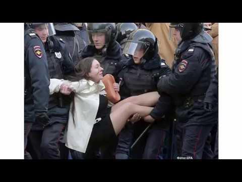 Задержание Ольги Лозиной 26 марта 2017
