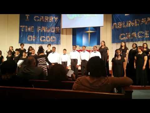 Grad academy memphis 2015 choir singing city called heaven