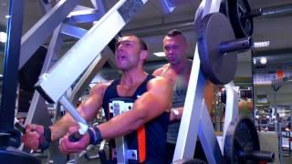 Бодибилдинг.Тренировка спины. Виталий Кистинёв.