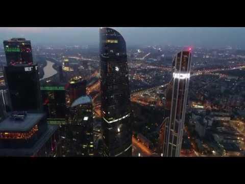"""4K Drone - Москва Сити, ресторан """"Sixty"""""""