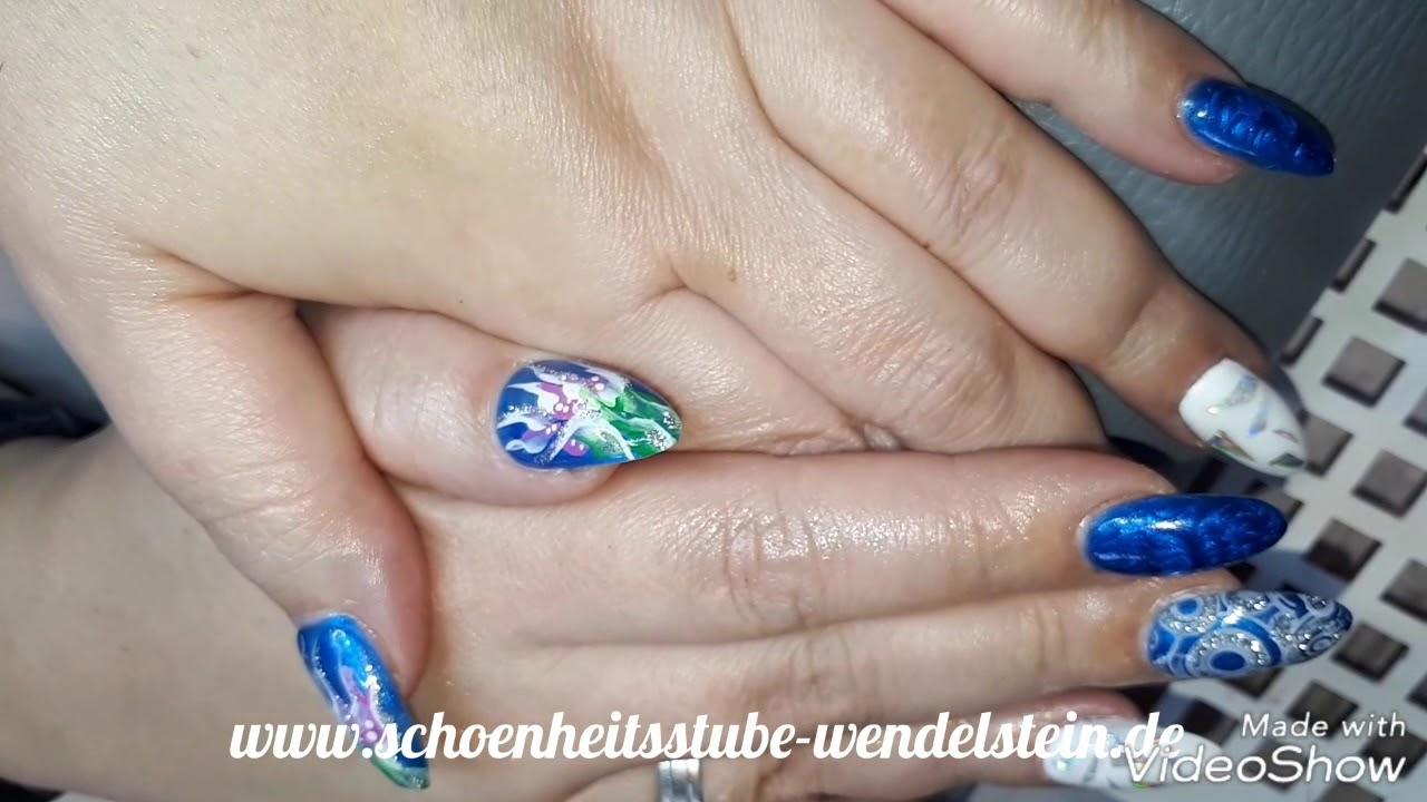 Nett Blau Nägel Glitter Zeitgenössisch - Nagel-Kunst-Design-Ideen ...