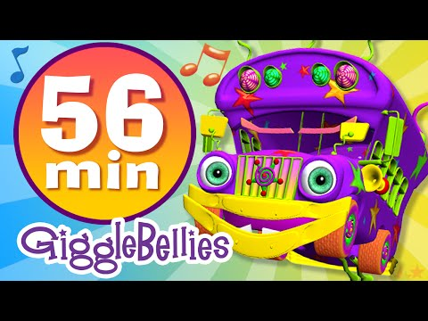 Wheels on the Bus | 20 more Nursery Rhymes | GiggleBellies