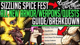All Important Event Quests + New Armor - Sizzling Spice Fest Guide - Monster Hunter World Iceborne!