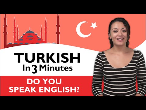 Learn Turkish - Turkish in Three Minutes - Do you speak English?