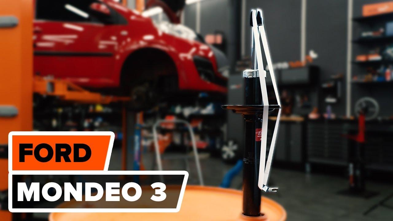 Wie  FORD MONDEO 3 Stoßdämpfer vorne wechseln TUTORIAL | AUTODOC