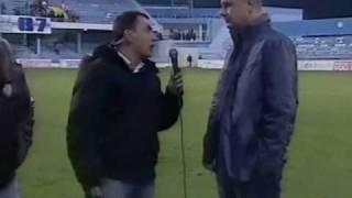 Mrš - Saša Petrović trener FK Grblja izgovara MRŠ dok trener Buducnosti pljuje pred kamerama !