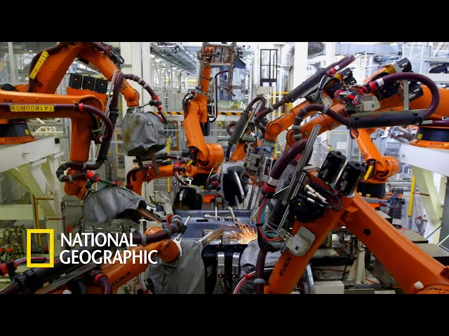 각자의 위치에서 리듬에 맞게 춤추고 있는 6천 대의 로봇