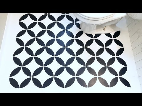 How to Paint a Tile Floor with a Stencil