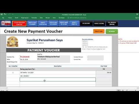 [Part 2] VIDEO TUTORIAL GUNA PAYMENT VOUCHER GENERATOR by Moneywise