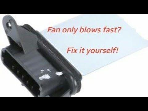 How To Change Blower Motor Resistor Oldsmobile Alero