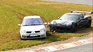 Nordschleife Carfreitag 2015 Carfriday - [Clio Corvette CRASH]