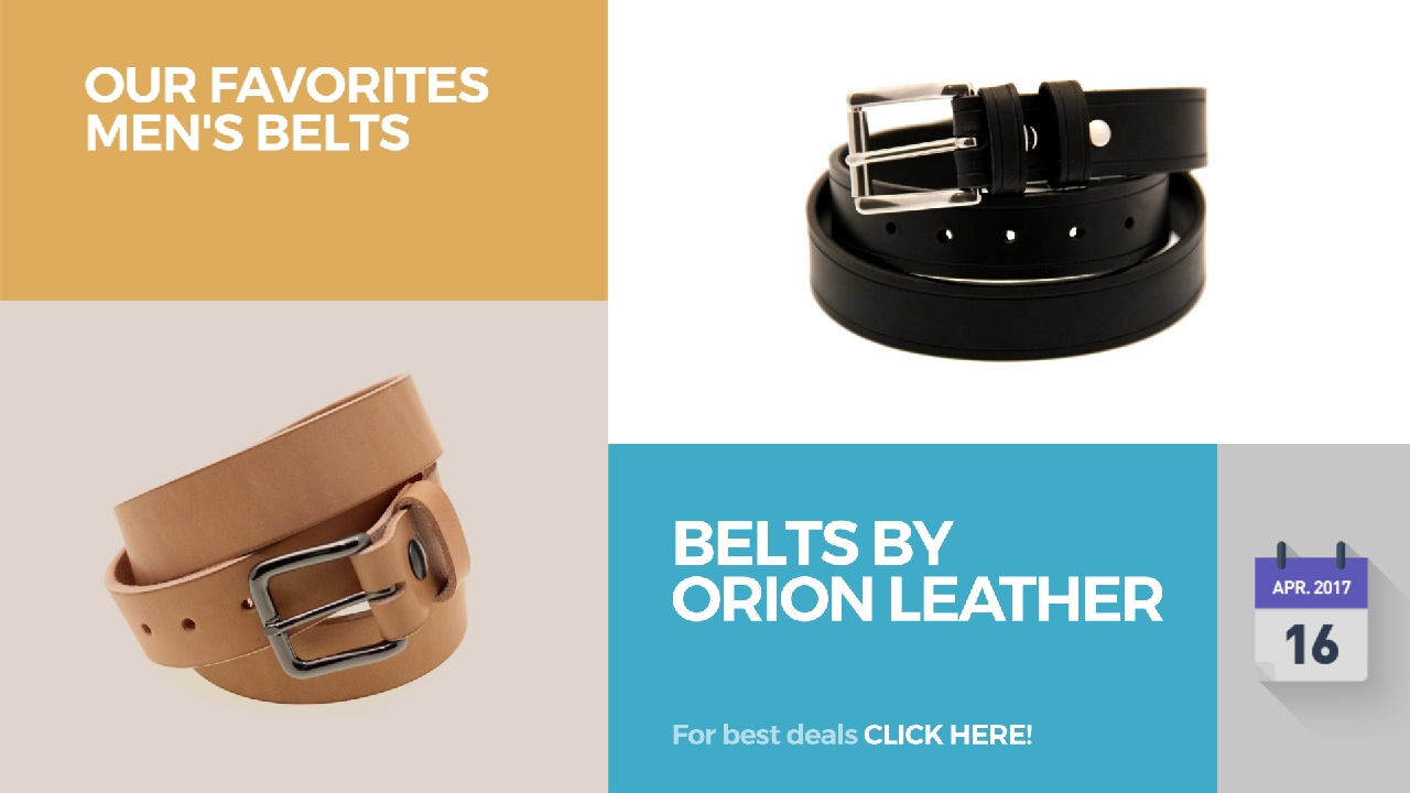bb03270dfc4 Belts By Orion Leather Our Favorites Men s Belts - YouTube