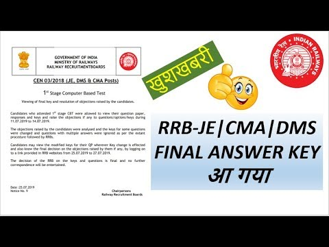 RRB JE (CEN/2018) Electronics engineering only