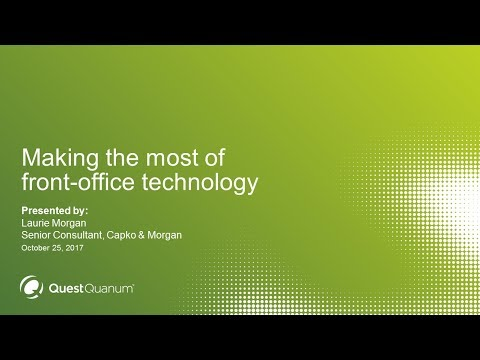 Making the most of front-office technology