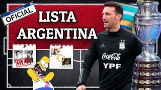 SELECCIÓN ARGENTINA🇦🇷 📋LA LISTA OFICIAL DE LA COPA AMÉRICA 2021 💥💣💥| Bruno González