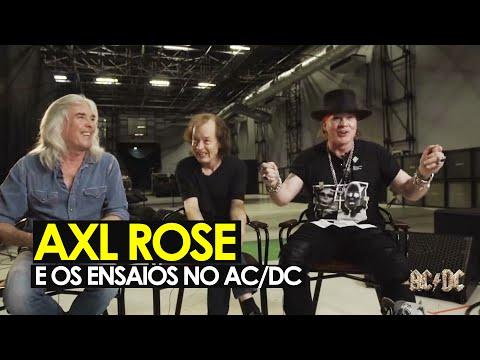 AC/DC: Axl Rose fala sobre os ensaios com a banda