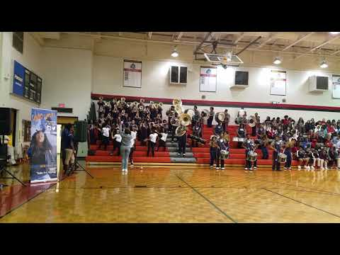 Mundys Mill High School Marching Band at Mundys Mill Middle School Pep Rally 2017 (Part 1)