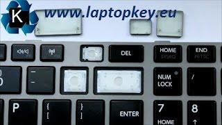 Tuto Comment remettre changer une touche D'Ordinateur portable Toshiba C850 L850 C870 C855