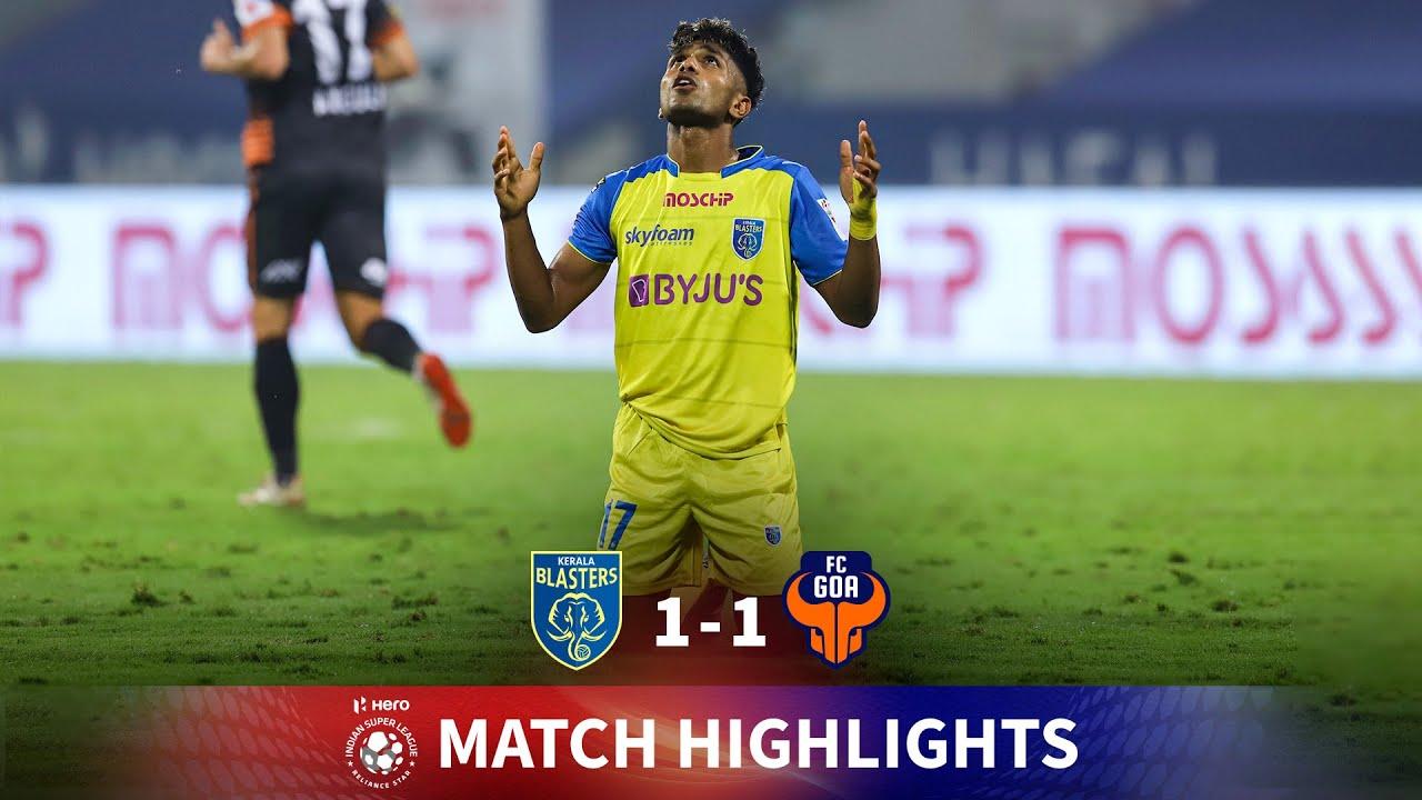 Download Highlights - Kerala Blasters 1-1 FC Goa - Match 68 | Hero ISL 2020-21