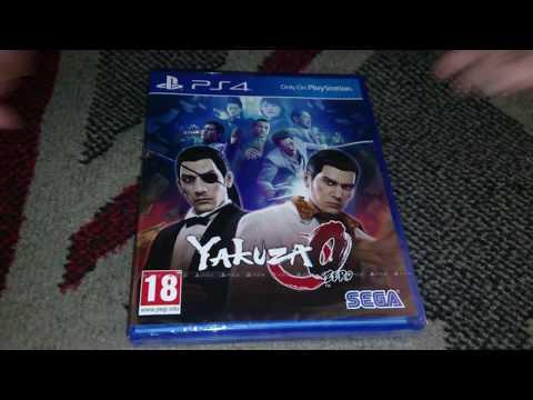 Nostalgamer Unboxing Yakuza 0 Zero On Sony PlayStation Four PS4 UK PAL Region Free