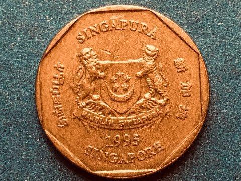 Singapore $1 Dollar 1995