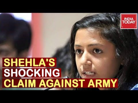 """Army Tortured 4 Men"" Shehla Rashid Makes Shocking Claim On Army In Kashmir"