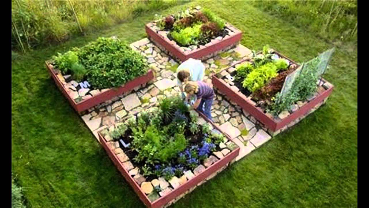 Garden Ideas raised bed vegetable gardening - YouTube
