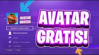 HOW TO HAVE AVATAR DE FORTNITE FOR FREE PS4