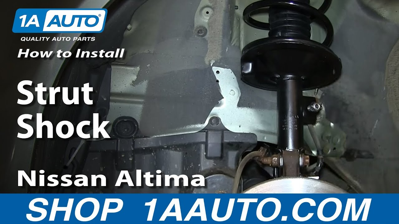 how to install replace front strut shock 2002