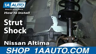 How To Install Replace Front Strut Shock 2002-06 Nissan Altima