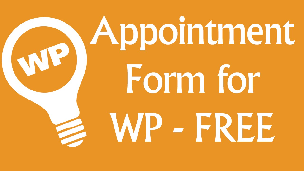 Free wordpress booking system appointment plugin youtube falaconquin