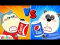 Gambar cover Wolfoo vs Pando - Red vs Blue Color Food Challenge - Kids Funny Stories | Wolfoo Family Kids Cartoon