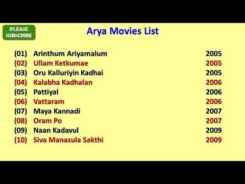 Arya Movies List