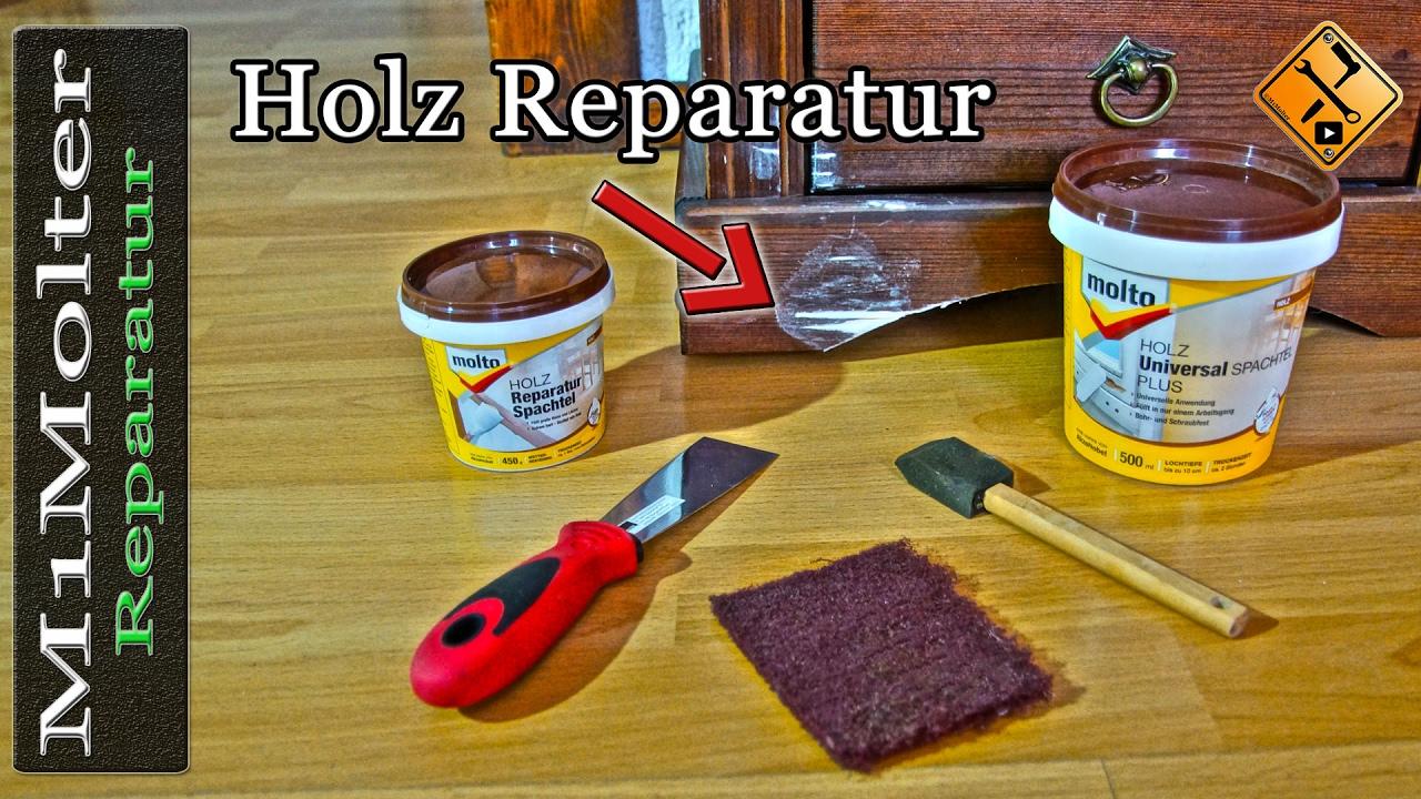 Holz reparieren und auffüllen / Holzschäden reparieren durch