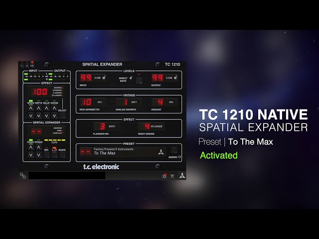 TC 1210 Spatial Expander Native Plug-In - Sound Example