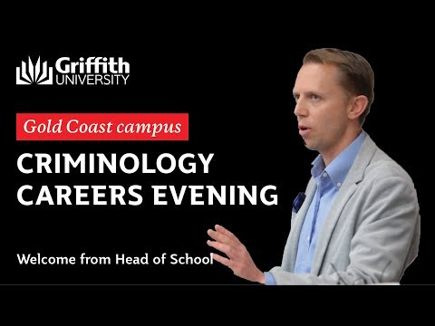 Criminology Careers Evening 2017 Gold Coast - A/Professor Michael Townsley