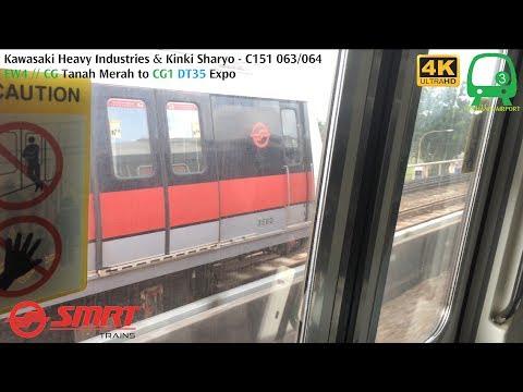 ⁴ᴷ [Train Race] SMRT Trains, CGL Train Ride [Tanah Merah