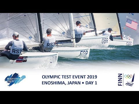 Highlights from the Finn class on Day 1 of Ready Steady Tokyo - the 2019 Olympic Test Event