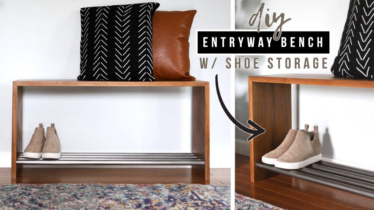 Diy Storage Bench With Shoe Rack Youtube,Bright Orange Kitchen Accessories
