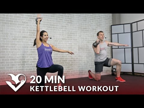 20 Minute Kettlebell Workout HIIT Kettlebell Workouts for Fat Loss & Strength Exercises