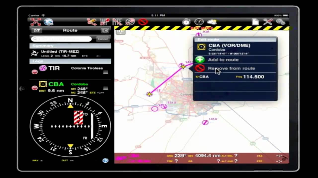 air navigation pro create a route youtube rh youtube com Land Navigation Airline Navigation Map