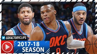 Russell Westbrook Triple-Double, Carmelo Anthony & Paul George Highlights vs Pistons (2017.11.24)