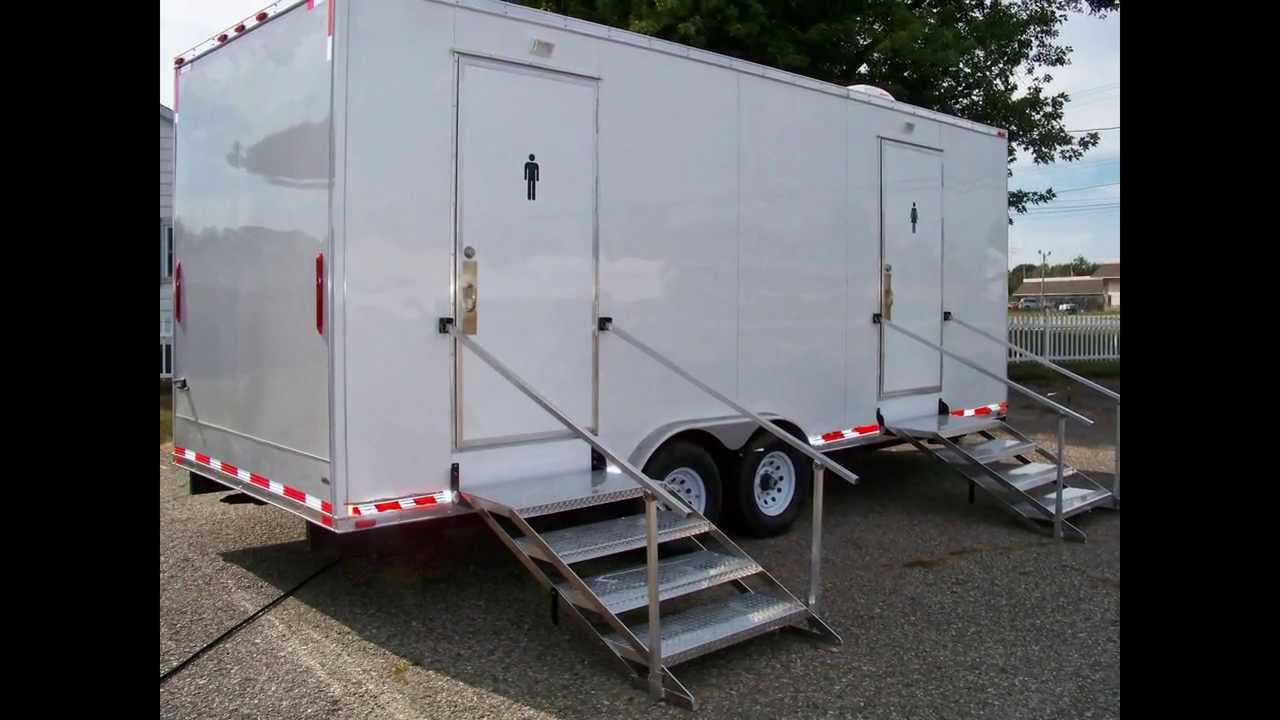Portable Restrooms Trailer | Portable Restrooms For Sale | Luxury Series  Manhattan