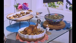 دجاج بالبصل و البطاطس - شوربة عدس بالسلق - كوكيز صحي| زعفران وفانيلا (حلقة كاملة)