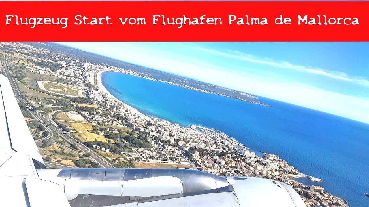 palma airport departure flugzeug start vom flughafen. Black Bedroom Furniture Sets. Home Design Ideas