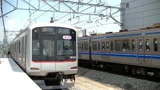 東急5050系5159F&西武6000系6107F 東横線祐天寺駅にて